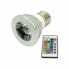 Управляемая мультицветная лампа Multi-Color 5W/E27 LED Light Bulb with Remote серебристая