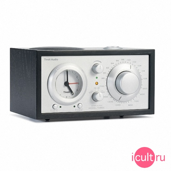 Акустическая система Tivoli Audio Model Three Clock Radio Black Ash/Silve черная