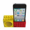 Подставка-усилитель громкости Ozaki iCarry Time2Brick Red/Yellow для iPhone 4/4S красно-желтая IH927A