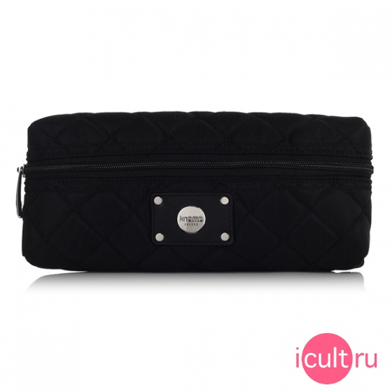 Мини-сумка Knomo Quilted Cable Pouch Black черная KN-14-077-BLK
