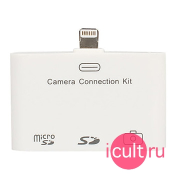 USB адаптер + кард-ридер Connection Kit 3 in 1 Lightning для iPad DR05-IPA
