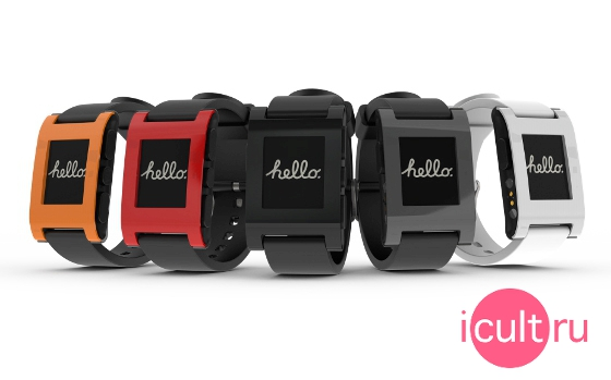 Pebble Watch Red