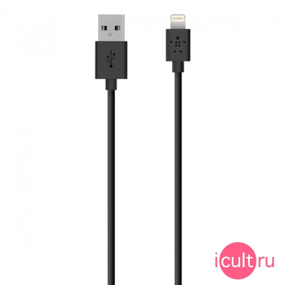 Кабель Belkin Lightning To USB Charge & Sync Cable Black черный 2 метра F8J023bt2M-BLK