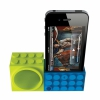 Подставка-усилитель громкости Ozaki iCarry Time2Brick Green/Blue для iPhone 4/4S сине-зеленая IH927B